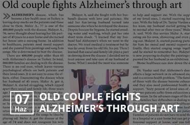 old couple fights alzheimers through art